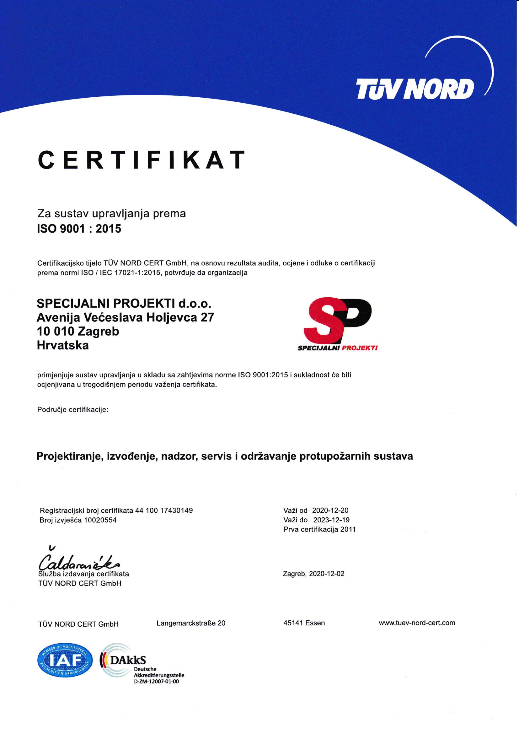 2020 TUV CROATIA certifikat ISO 9001 hrv-1